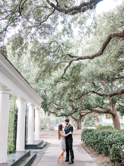 Savannah Forsyth Park Engagement Session Dog