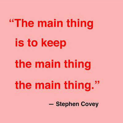 Covey Main Quote