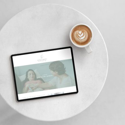Handcrafting Heartfelt Brand & Website Designs for Female Creatives |  Showit | Showit Templates | by Viva la Violet | Gentle Landing