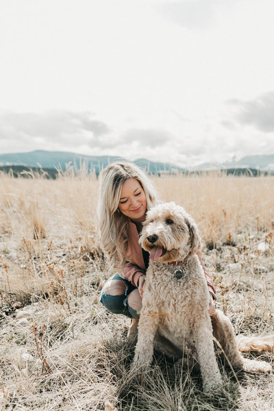 Founder Moments by Madeleine Weddings in Kananaskis with goldendoodle