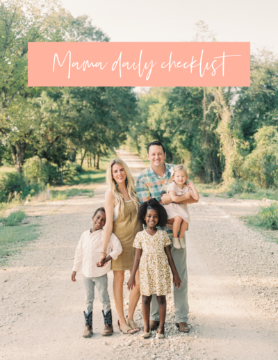 Mom's daily checklist FREEBIE