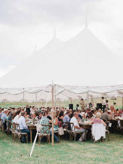 Private Montana Ranch Wedding Reception in Tent