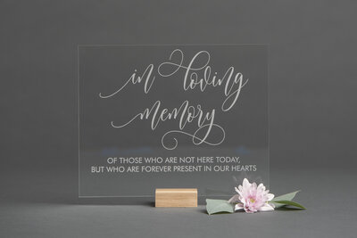 Clear Acrylic In Loving Memory Sign