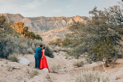 Desert elopement in the foothills of the Sandia mountains in Albuquerque, New Mexico