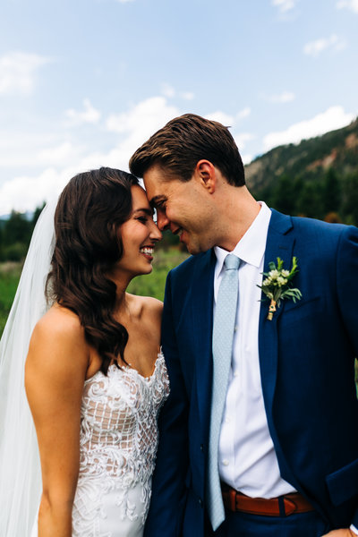 Bride and Groom portraits in big sky montana