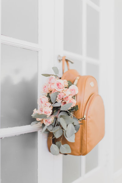 Flowers + Backpack  x