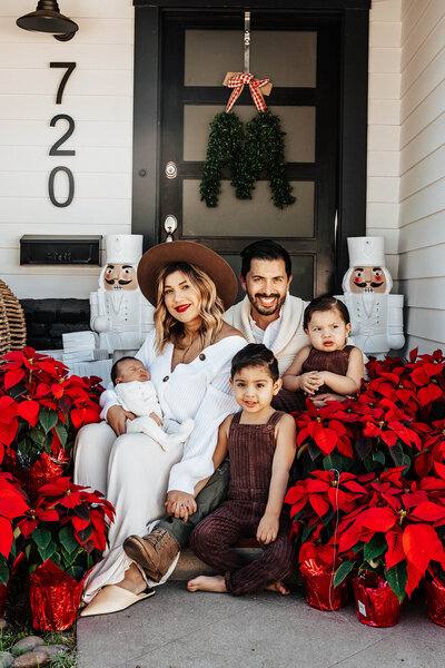 SoCal Standard - Boho Modern Chic Family Photographer - Holiday Front Porch Session - Marquez-30