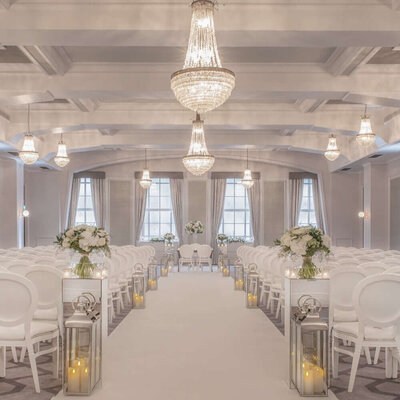 A Civil ceremony set up at De Vere Grand Connaught Rooms