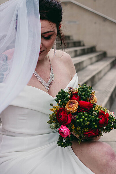 downtown birmingham alabama bridal session