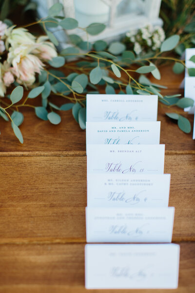 Escort Cards - Left