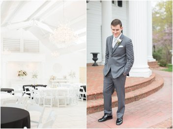 groom before wedding at Ryan Nicholas Inn in Greenville