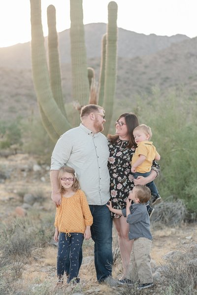 Courtney Campbell Sunny Fall  Phoenix Arizona Family Portraits at The White Tank Mountains
