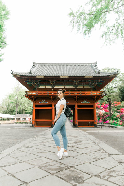Karlie Colleen Photography - travel Blogger Tokyo Japan Cherry Blossoms temple (1 of 1)