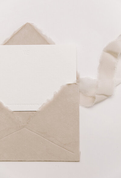 Whitewood Events Envelope and Notecard