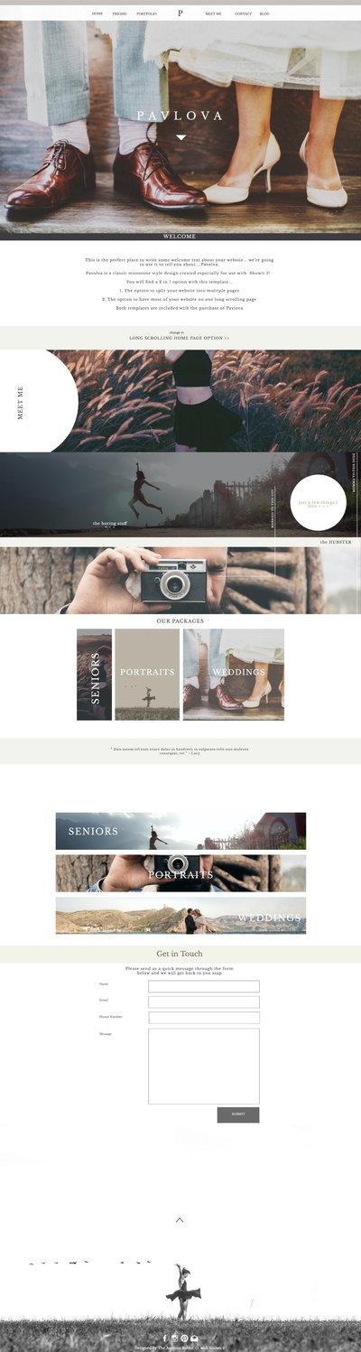 design pavlova d. Showit   Drag and Drop Website Builder for Pro Photographers