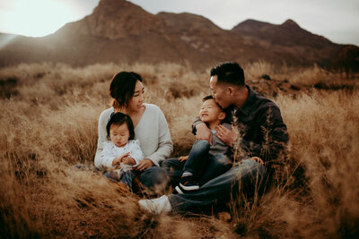 Franklin Mountains family session