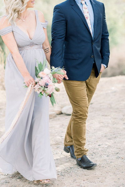 Romantic Tucson Desert Engagement Session Photo | Tucson Wedding Photographer | West End Photography