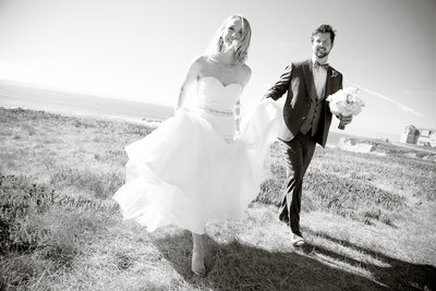 Bride & Groom at Ritz-Carlton in Half Moon Bay