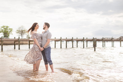 Engagement session at the Fairhope beach, March of 2020.