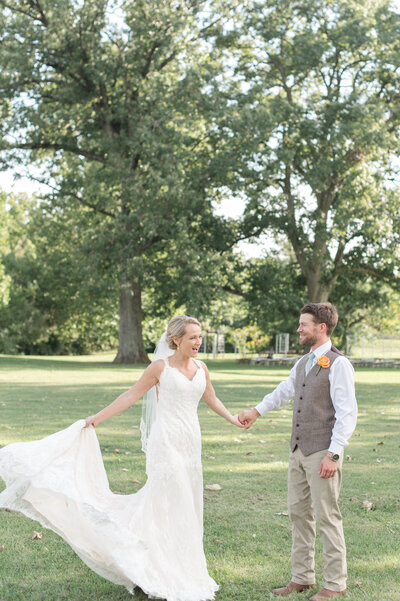 bride and groom portraits blush dusty blue Heritage Alpaca Farm wedding indiana wedding venue indiana wedding photographer rose courts photography