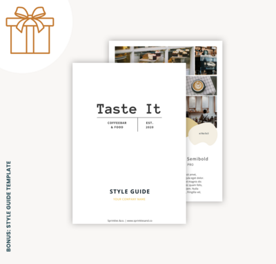 Bonusses in webshop-template style guide