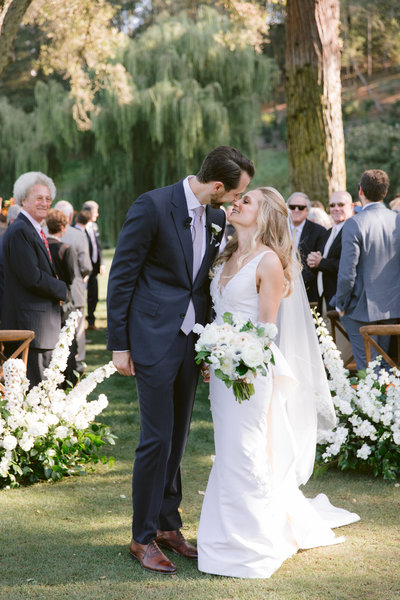 Wedding by Jenny Schneider Events at Meadowood luxury resort in Saint Helena in Napa Valley, California.