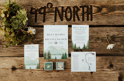 Breanna + Riley Adventure Wedding | 49 Degrees North Ski Resort - Chewelah, WA | Tin Sparrow Events + Cassie Trottier Photography