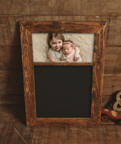 Baby Siblings framed print