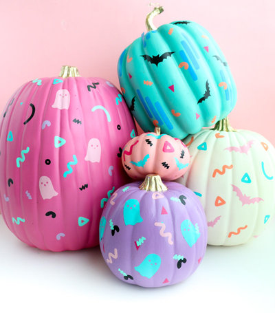 DIY 90's Patterned Pumpkins-1