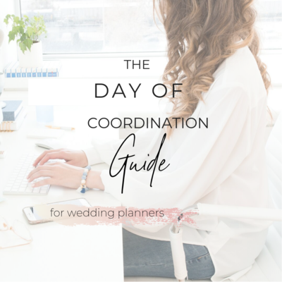 wedding day of coordination