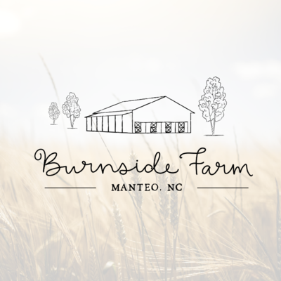 Rustic barn logo by Tribble Design Co.