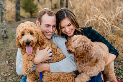 Couples photos with dogs in OKC