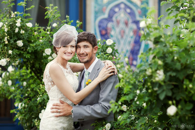 Garden Wedding Photo at the Boulder Dushanbe Tea House