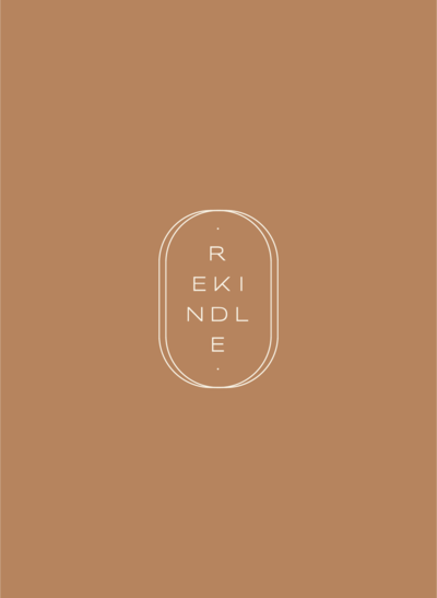 Rekinde Candle Co Secondary Logo, crafted by Rhema Design Co.
