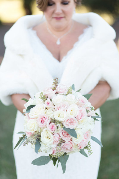 Wedding holding bouquet