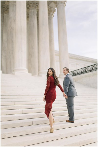 Engagement shoot in DC, engaged couple, beautiful dc engagement session