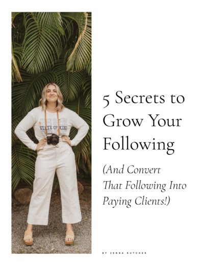 Jenna Kutcher's 5 Secrets to Grow  Your Following on Instagram