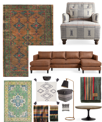 Misty Mill Collage - LIVING ROOM
