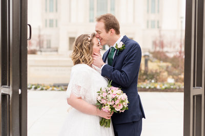 Ogden Temple Winter Wedding _ Emerald Green and Pink Wedding_10-2
