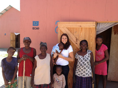 Emily Hendershot in Haiti. September 2012.