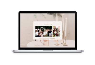 Showit Website Design for Bridal Shop  by Carrylove Designs\