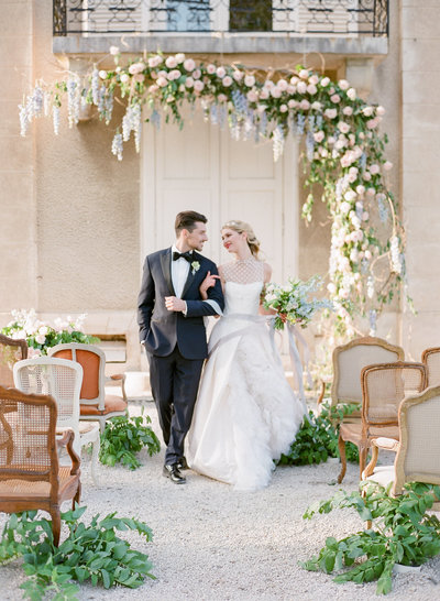 Classic and Romantic Destination Wedding in France