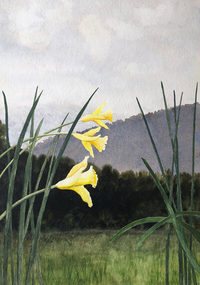 Through the Reeds by Alan Shuptrine, Prominent Chattanooga Watercolor Artist