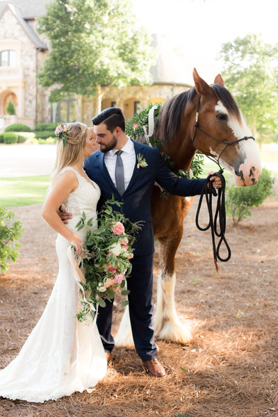 Atlanta Wedding Photography with Horse