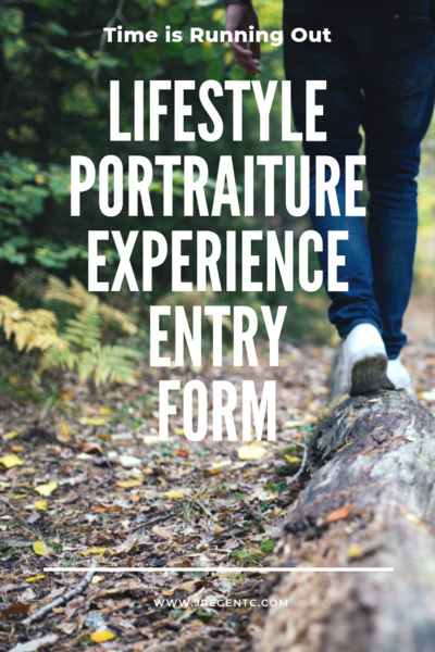 Lifestyle Portraiture Experience Entry form