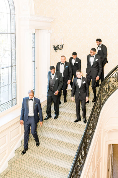 Groom and groomsmen at Sleep Hollow wedding in PA