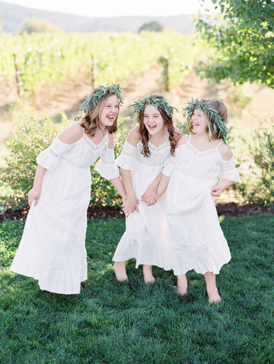 candid flower girl portrait by portland wedding photographers sweetlife photography