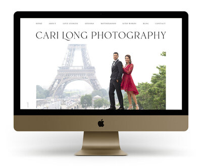 Showit Template Customization  Mock Up for Cari Long Photography