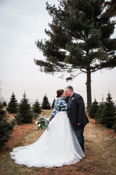 Our wedding at Lee's Trees in Lily Lake, Il.