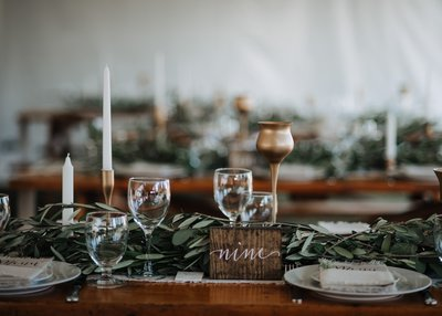 wedding Long harvest tables